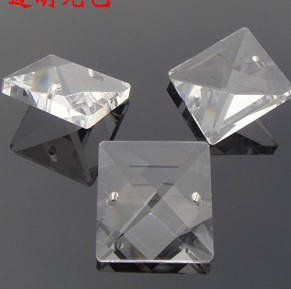 Chandelier Crystal 2800pcs/lot 20mm Crystal Prism Parts Square Beads In 2 Holes Diy Wedding Chandelier Lamp Beads Dress The Christmas Trees Aromatic Flavor Lighting Accessories