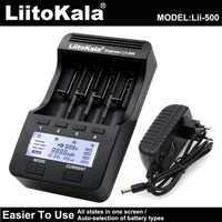 Умное устройство для зарядки никель-металлогидридных аккумуляторов от компании Liitokala: Lii-500 Lii-PD4 ЖК-дисплей 3,7 V 18650 18350 18500 21700 20700B 20700 10440 14500 26650 ...