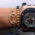 Macrame Bracelets Men Women Jewelry 24K Titanium Steel Beads Muslim Islamic Braided Bracelet Islamic Muslim Charm Bracelets