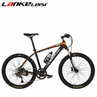 LANKELEISI 26Inch 36V20A/240W T8 Lithium Electric Mountain Bike Aluminum Alloy Spoked Wheel Full Suspension Bicycle