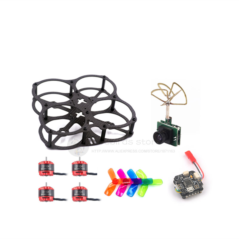 DIY X2-UFO 78mm FPV indoor racing brushless mini drone pure carbon fiber quadcopter frame kit D1104 7500V motor mini F3 10A eyas 55 7mm 8mm pure carbon fiber brush coreless quadcopter frame for diy fpv micro indoor mini drone with camera
