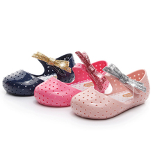 2019 Summer Kids Girls Sandals Jelly Shoes Princess Children Fashion Bowknot Flat Toddler Baby Girl P30