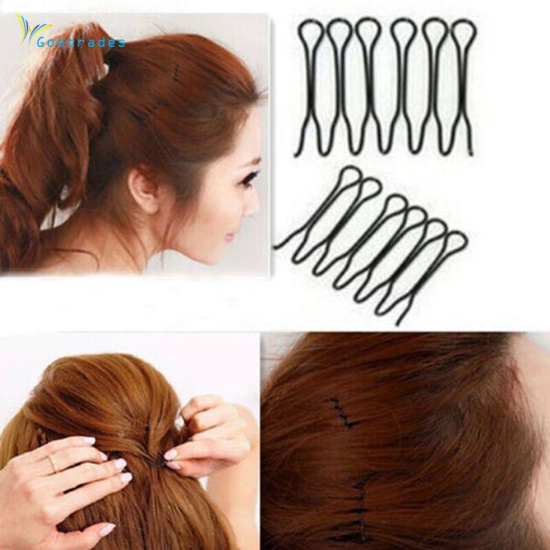 Gootrades 2 Pcs Women Girl POP Styling Hair Clip Stick Bun Maker Hair Accessories Braid Tool
