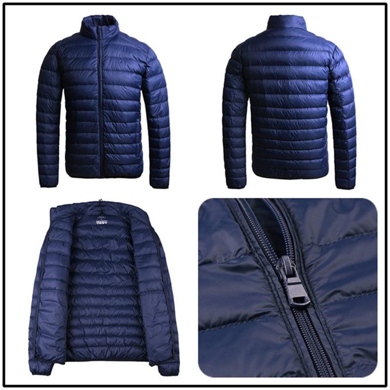 Customized White Duck Down Jacket Men Winter Ultralight Light Male Parka Coats Man Brand Clothing Water Resistant Outwear Autumn10