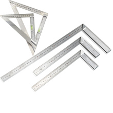 Stainless steel Right Angle Ruler 90 degree square tools with Bubble Level measuring instrument for Woodworking And Drawing new 30cm 0 12 inches stainless steel right measuring rule tool angle square ruler p0 5