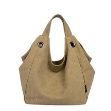 2016 new women canvas handbags women large handbag canvas women shoulder bag brand fashion Boston bag big hand bag