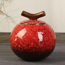 Kiln Tea Caddy Large Tea Set Ceramic Sealed Storage Tea Box Tea Sets Zero Accessories Canister Ceramic Sealed Cans