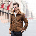 European Style Men Leather Jacket Thick Warm Winter Outwear Faux Lambswool Suede Leather Coat Jackets Brown Plus Size