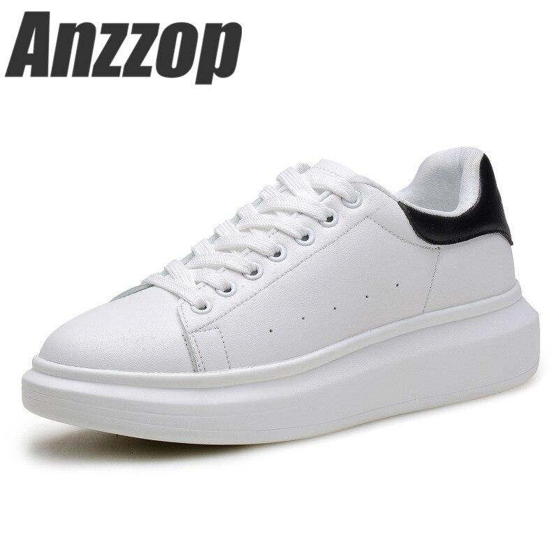 a881478f3 2019 Весенние новые дизайнерские белые туфли на танкетке женские Сникеры на  платформе tenis feminino повседневная женская
