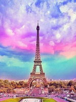 New Diamond Mosaic Full Diamond Embroidery Beads Sky Of Paris Eiffel Tower Diamonds Cross Stitch Painting