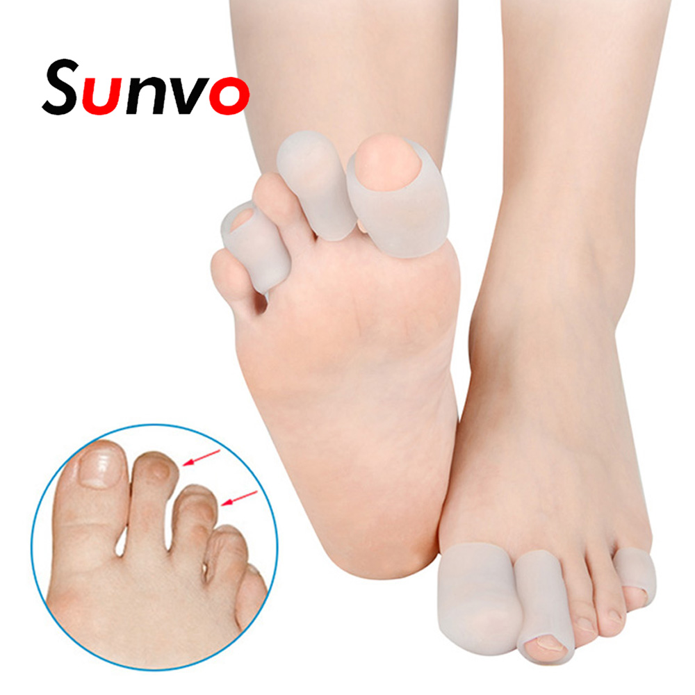 5 Pair Elasticity SEBS Tube Toes Separator Protector For Blister Corn Hallux Valgu Hammer Toe Paronychia Pain Relief Inserts Pad