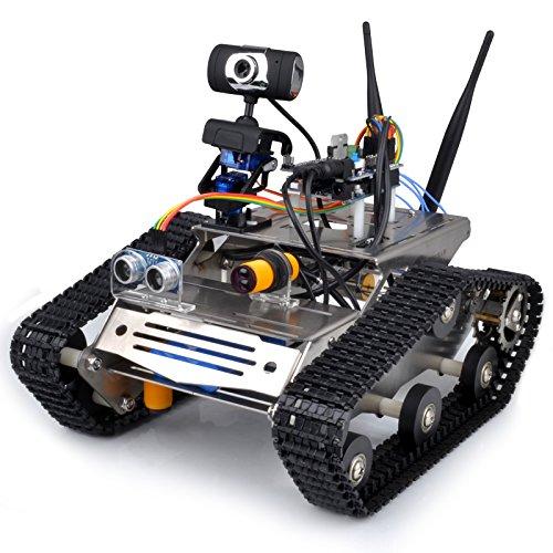 Беспроводной Wi-Fi робот автомобильный комплект для Arduino/HD камеры Ds робот умный Обучающий робот комплект для детей