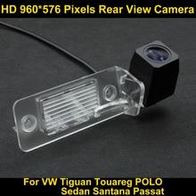 PAL HD 960*576 Pixel ad alta definizione Parcheggio Rear view Camera per il VW Tiguan Touareg POLO Berlina Santana Passat Auto
