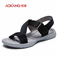 Aokang 2017 New Summer Shoes Fashion Summer Sandals Men Shoes Casual Shoes High Quality Free Shipping