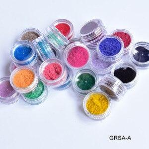 Image 4 - Nail flocage velours poudre poussière cachemire Nail Art nouveau 24 boîtes, toutes 24 couleurs pour 3.5 $ ongles flocage velours poudre poussière cachemire