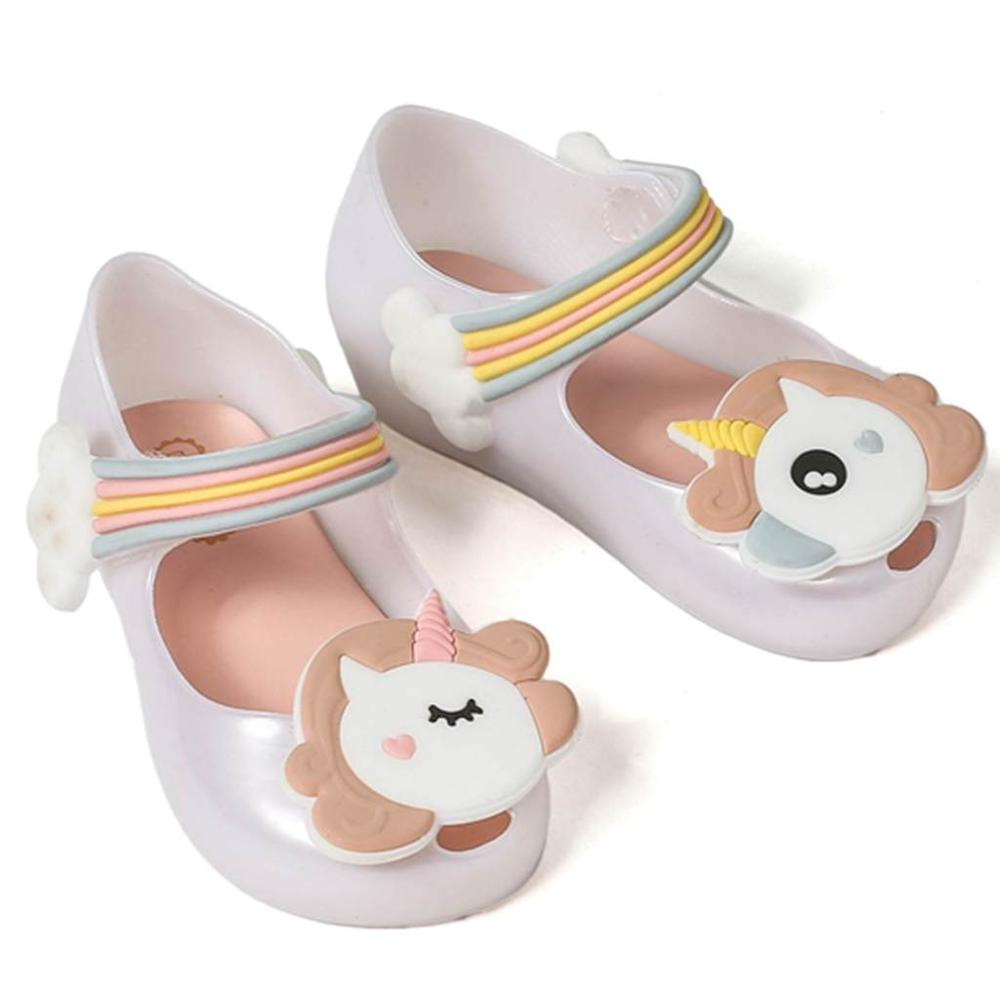 Unicorn Shoes New Winter Jelly Shoe Mini Dargon Sandals Fish Mouth Girl Non-Slip Kids Sandal Toddler