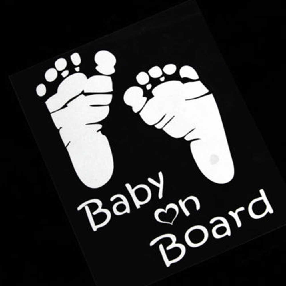 Милый отпечаток ноги ребенка на доске виниловая наклейка на машину Наклейка для автомобильных окон украшения
