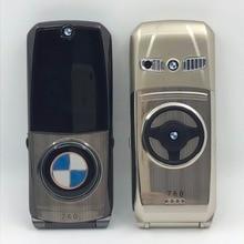 Mafam 760 разблокирована флип металлический модель автомобиля ключ дизайн формы GPRS Интернет E-Book Роскошные старший мобильный телефон P003
