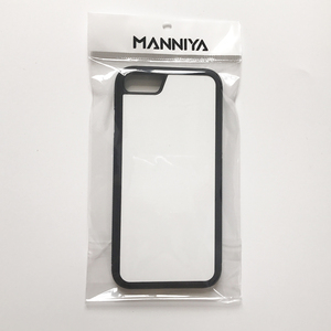 Image 4 - Manniya iphone 7 8 se 2020 ブランク昇華 tpu + pc ラバー電話ケースとアルミインサートとテープ 10 ピース/ロット