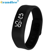 reloj  2017 Screen LED Bracelet Digital Watches For Men&Ladies&Child Clock r Wrist Watch Sports Wristwatch Free Shipping Aug3