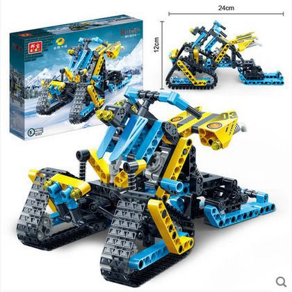 Banbao 6953 Racing Car Model snowmobile 306 pcs Plastic Building Block Sets Educational DIY Bricks Toys for children