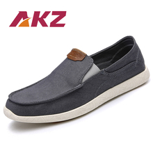 AKZ Summer loafers Men's casual shoes Canvas shoes for men Denim soft Comfortable Breathable Walking Shoes Male Shoes yjrvfine wonderful meteor shower men casual shoes walking comfortable breathable unisex canvas pure hand painted shoes r1029m