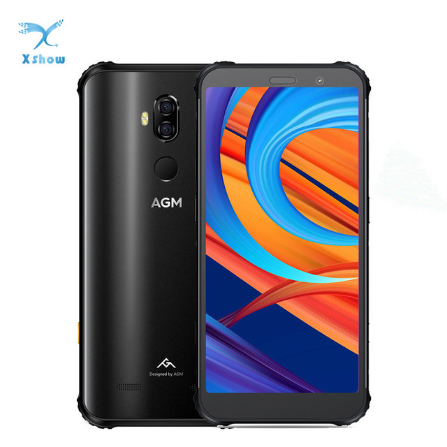 """New AGM X3 8GB 64GB IP68 Android 8.1 Snapdragon 845 5.99"""" Rear 12MP+24MP Front 20MP Camera Fingerprint NFC Waterproof Smartphone"""