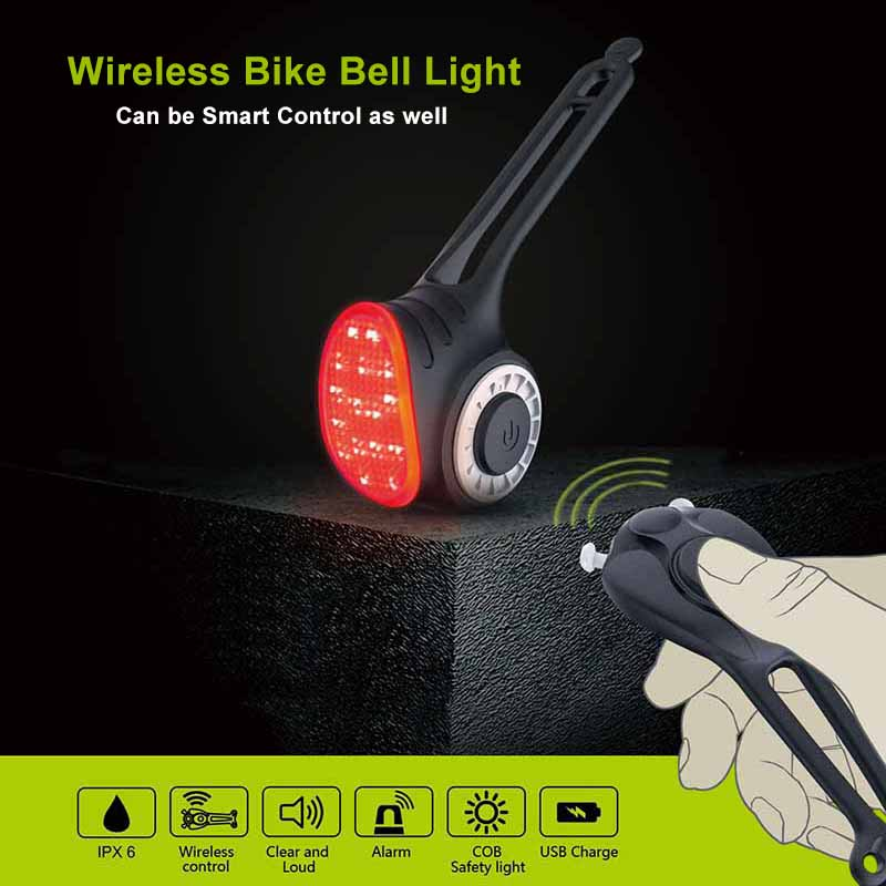 Meilan S3 Bicycle taillight COB lighting source Bicycle smart wireless remote control 150 decibel electric bell