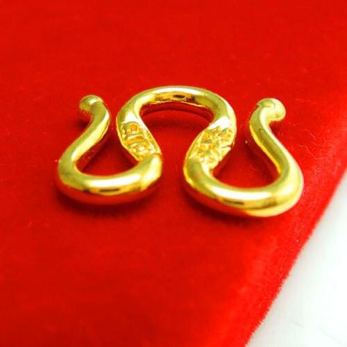 Fermoir de collier en or jaune 9 K authentique/fermoir de collier en forme de M & W