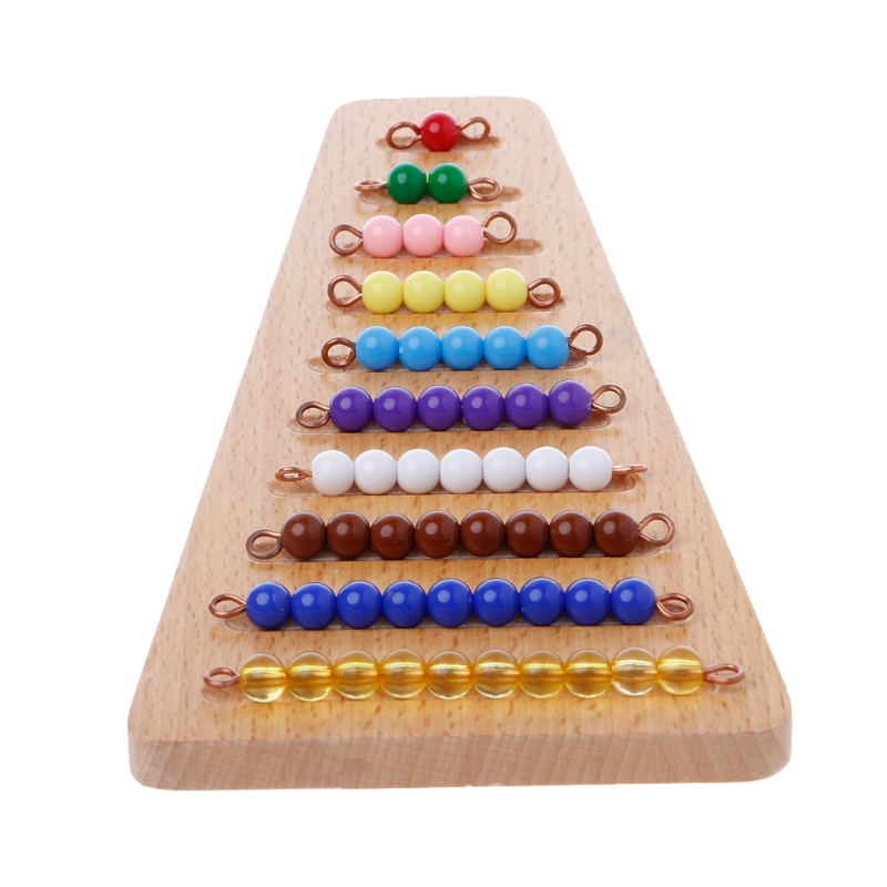 Montessori Math Material Bead Stair Math Toy Kids Early Preschool Learning Toys