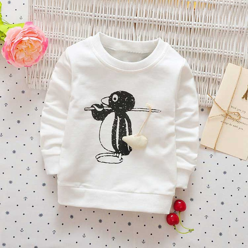 Autumn-spring-Children-clothing-girls-boys-babys-Cartoon-Penguin-print-o-neck-long-sleeve-t-shirt-Y2468-2