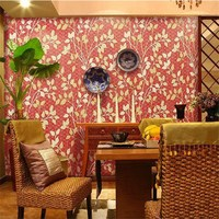 Chinese Style Gold Foil 3D Mosaic Wallpapers papel de parede Modern Red Background Gold Leaf Tv Wall Paper For Living Room Study