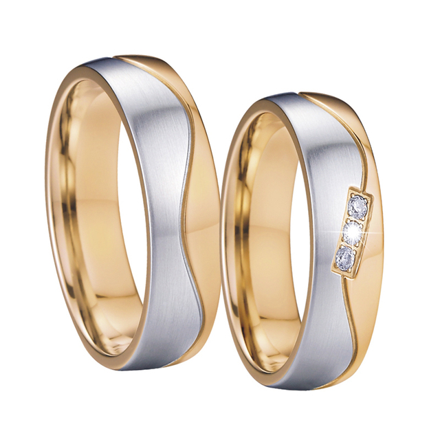 Mens Wedding Band Sets Anniversary Rings Gold Color Alliances
