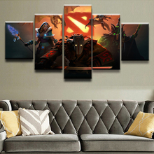 DOTA 2 Game 5 Piece Canvas Wall Art For Living Room Painting Wall Art Canvas Painting Modern HD Print Home Decor Picture Artwork ravnica allegiance game modern home decor hd print wall art canvas art for living painting wall art 5 piece home painting
