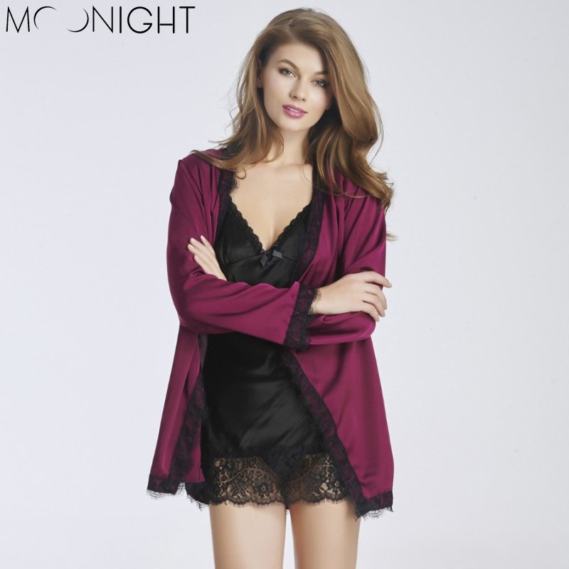 MOONIGHT 2 Pcs Women Sexy Lingerie Deep V Erotic Lingerie with Lace Women babydoll Sexy Underwear