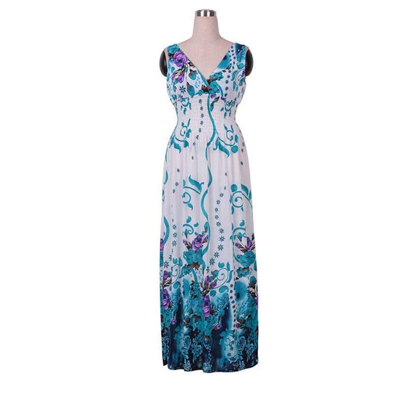 Đẹp-Mãi Mãi Bohemia Đi Biển Spaghetti Dây Đầm Váy Maxi Dài Nữ Mùa Hè 053
