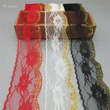 10 ярдов/серия Высокое качество красивой лентой кружева лента 60 мм кружевной отделкой DIY вышитые для швейных украшения африканский шнурок ткань