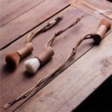 Натуральный Бамбуковый чайник кисть Новые Ремесла дзен чайная церемония обслуживание Ручка инструмент для очистки настольный поднос для чая чашка губка-стиратель