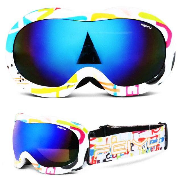 3a981313bdc1 Snow Ski Goggles Kids Snowboard Skiing Glasses Double Lens Anti Fog UV  Protection Children Boys Girls Spherical Snowmobile Mask