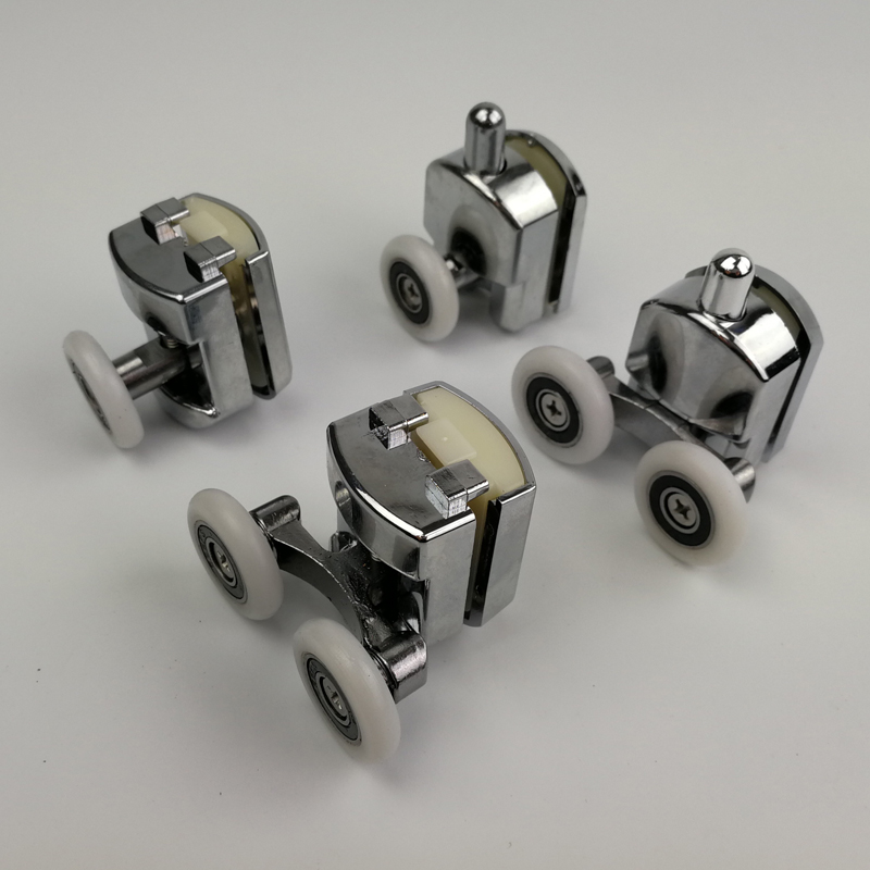 Zinc Alloy Bearing Hardware Sliding Shower Glass Door Roller Runner Pulleys Diameter 23mm/25mm Shower Door Accessories.