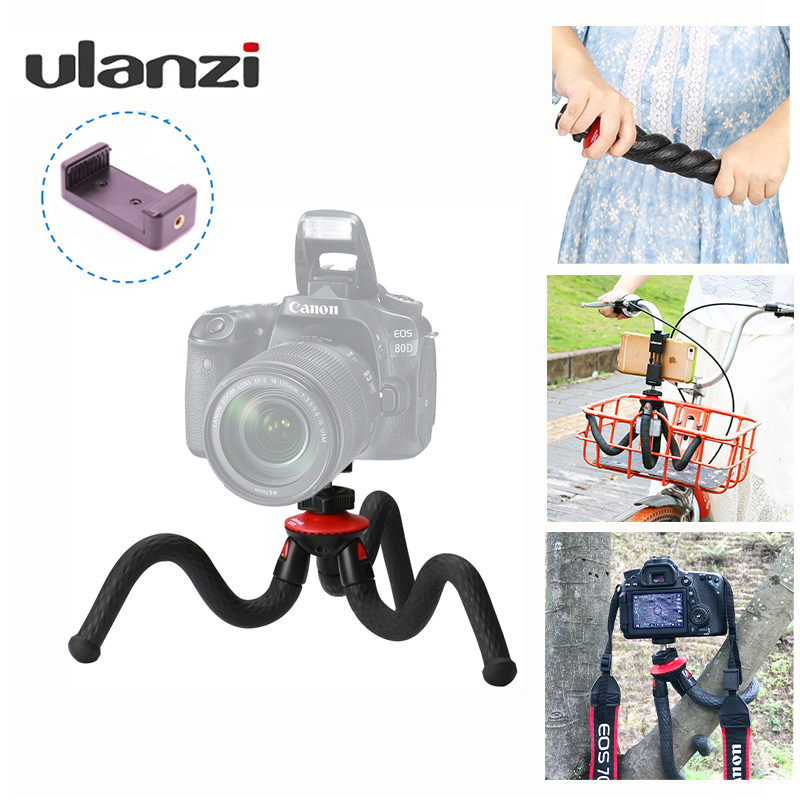 Ulanzi Portable Phone Camera Holder Flexible Octopus Travel Tripod Bracket Monopod Selfie Stick For Phone Camera Phonegraphy