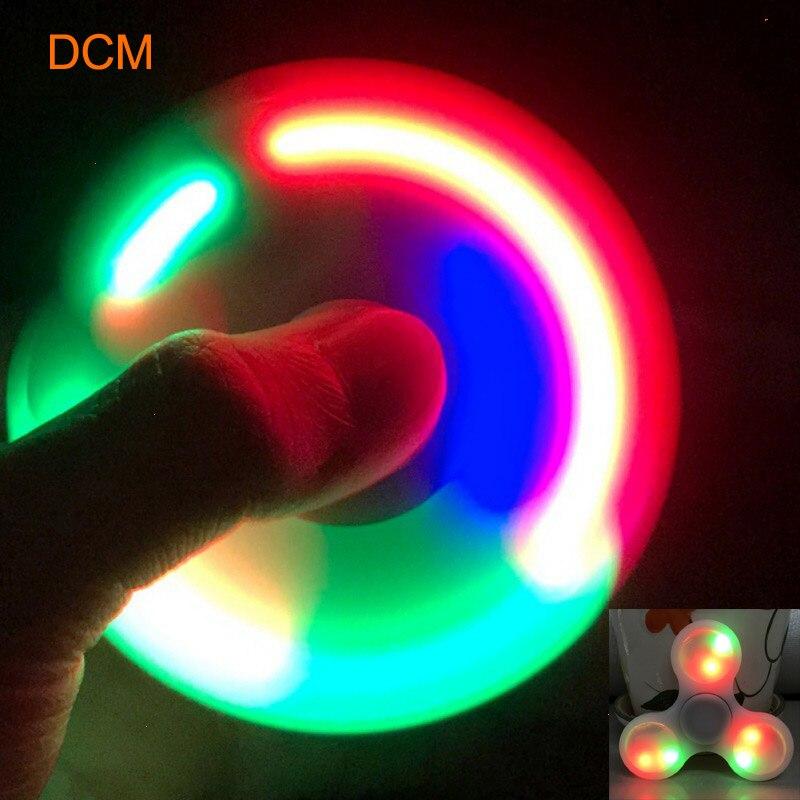 HotSale LED Light Hand Finger Spinner Fidget EDC Hand Spinner For Adult Kids Autism ADHD Relief