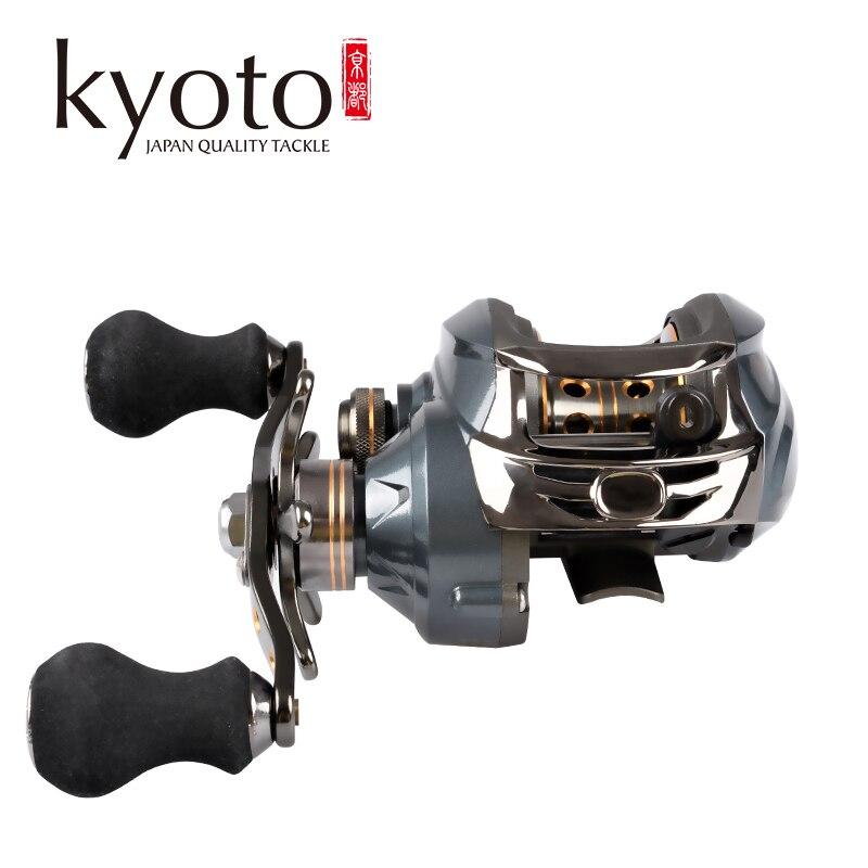 kyoto nemesis 120la carretel de pesca carretel de arremesso da mao esquerda engrenagem relacao 6 3
