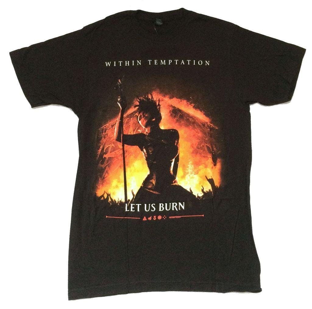Within Temptation Let Us Burn Black T Shirt New Official Soft