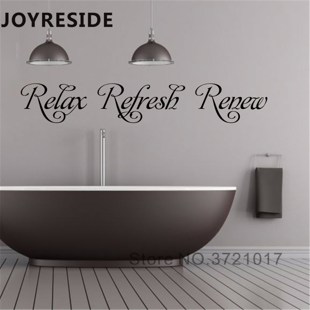 Bathroom Wall Decal Art Design Relax