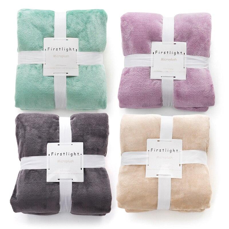 Flanel Fleece Gooi Zacht Warm deken Manta Cobertor Plaids sprei - Thuis textiel