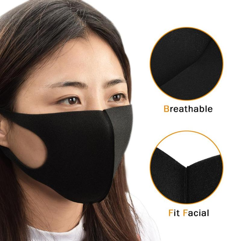 Mouth Mask Reusable Face Dustproof Masks Tattoo Washable Unisex 1pc Black Travel Out Accesories Breathable Wholesale Door