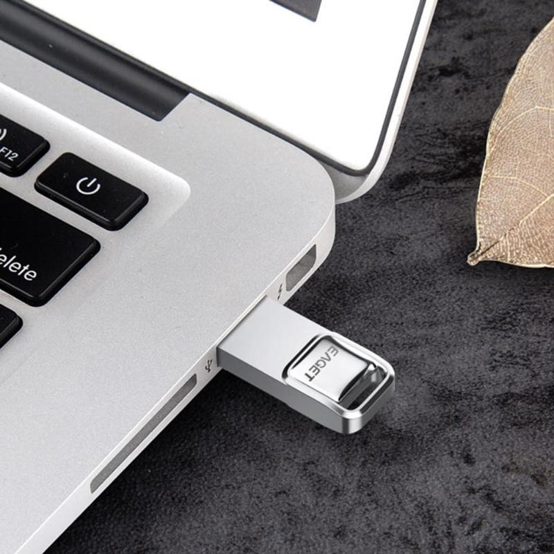 EAGET U1 USB Flash Drive 32GB Metal Waterproof Pendrive USB Memory Stick 16GB Pen Drive Real Capacity USB Flash U Disk