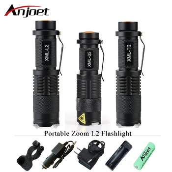 high quality Mini zoom flashlight led torch cree xml t6 l2 q5 waterproof lanterna rechargeable light ues 18650 or 14500 penlight cree xml t6 led flashlight 8000 lumens lanterna adjustable led torch zoom tactical flashlight charger 1 18650 battery