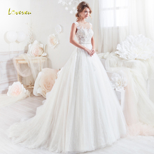 Loverxu Wedding Dresses 2019 Cap Sleeve Court Train